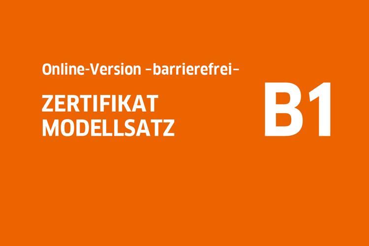 Startbild von Modellsatz B1