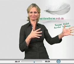 Begrüßungsgeste in Gebärdensprache